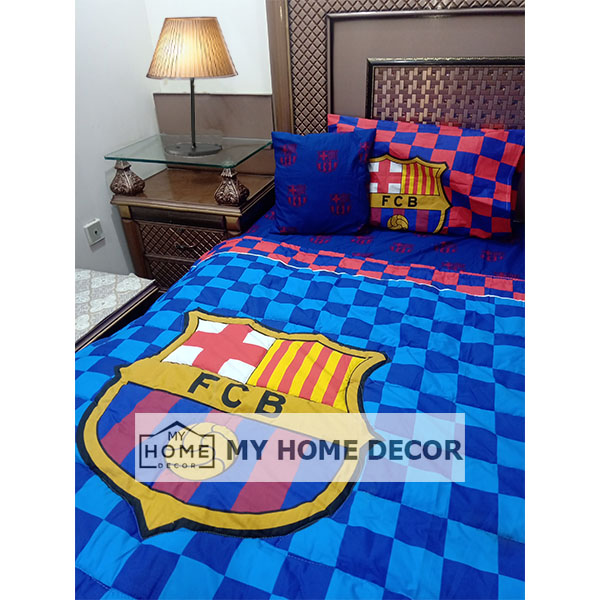 FCB Themed Cotton Kids Bed Sheet