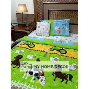 Farm House Themed Cotton Kids Bed Sheet