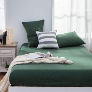 Fitted bed sheet pakistan dark green
