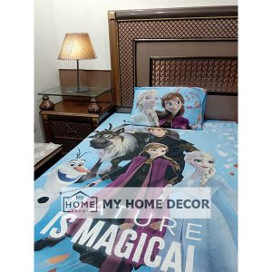 Frozen Themed Cotton Cartoon Bed Sheet