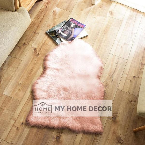 Pink Fluffy Faux Fur Mat