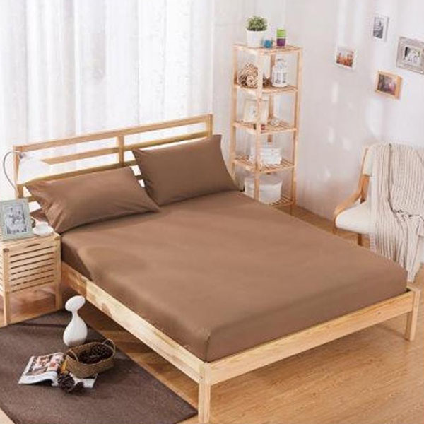 RICH-COTTON-FITTED-SHEET- LIGHT BROWN