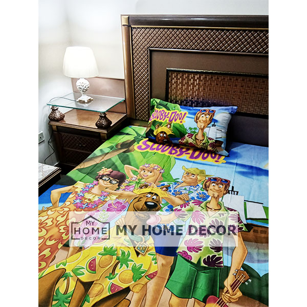 Scooby Doo Themed Cotton Kids Bed Sheet