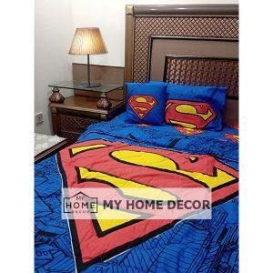 Superman Themed Cartoon Bed Sheet