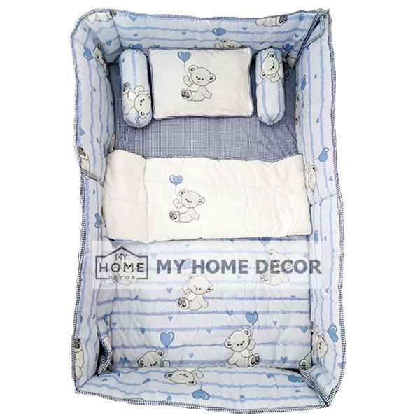 White and blue Bear Baby Cots