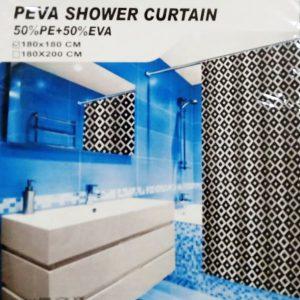Dark Brown PEVA Waterproof Shower Curtain Bathroom