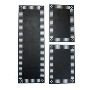 PVC Foaming Sheet Black Pattern Table Mat Black