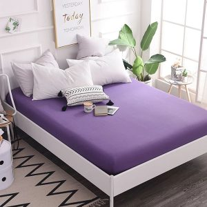 RICH-COTTON-FITTED-SHEET- AMETHYST