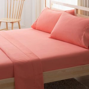 RICH-COTTON-FITTED-SHEET- CORAL