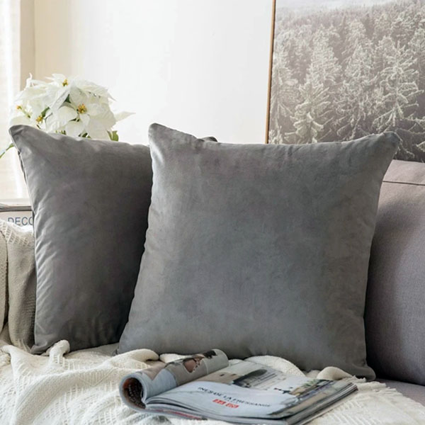 cushion cover grey