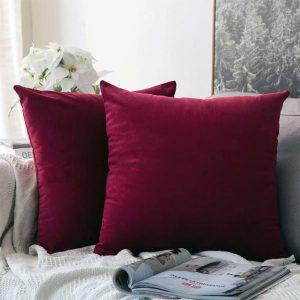 cushion cover maroon