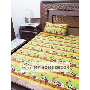 Cow Themed Cotton Kids Bed Sheet