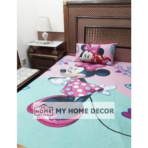 Minnie Mouse Themed Cotton Kids Bed Sheet