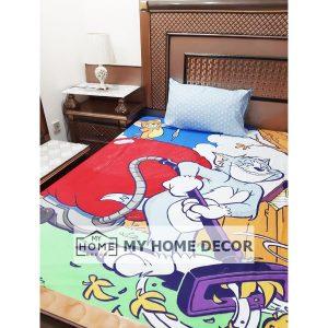 Tom & Jerry Themed Cotton Cartoon Bed Sheet